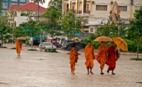 Monks on walkabout