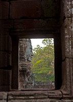 Bayon face thru window