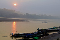 Early Morning looking over the Chindwin River