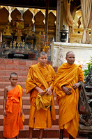 Monks at Pha That Luang