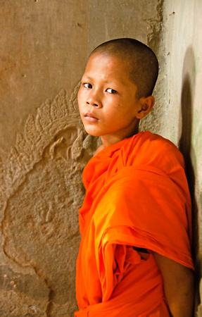 Monk inside Angkor