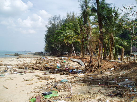 Beach at Koh Lak  10 days after teh Tsunami hit