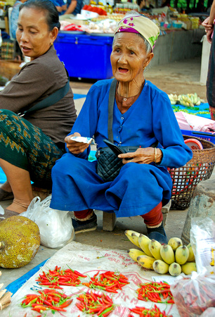 Lady in Muang Sing Market