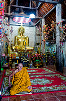 Monk in 350 year old Wat