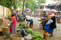 Produce market on the streets